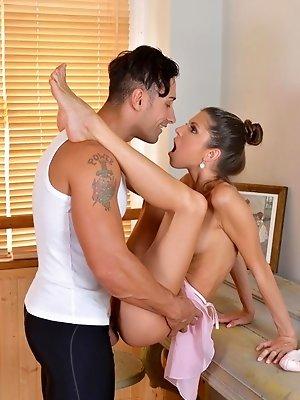 Gina ballet teacher footjob